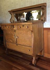Antique Oak Server / Buffet