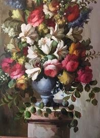 Floral Still Life Painting in large frame