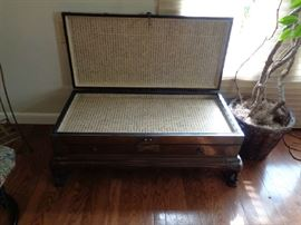 coffee table/trunk/ am not sure, also has a drawer
