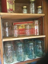 Atlas mason jars with glass lids