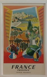 French Railways Travel Poster, Provence