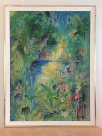 """""""Rainforest""""  by Hermann Dietrich Grunewald (1916-2003); MGM artist, Commissions, Museums & Private Collections"""