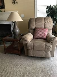 End Table, Lamp, Recliner