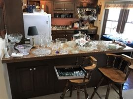 Glassware, Kitchen Items.