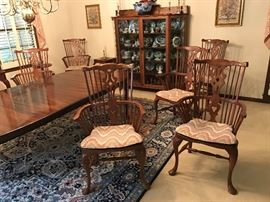Six Thomasville Arm Chairs.