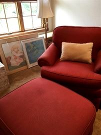 Also This Great Armchair and Ottoman...All You Need Is A Good Book...Some Carmel Corn...and...A Sweet Tea!