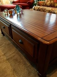 Large Sold Wood Coffee Table...