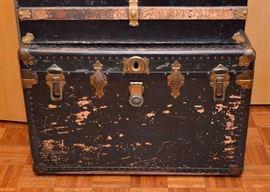 SOLD--LOT #203, Antique/Vintage Steamer Trunk, $60