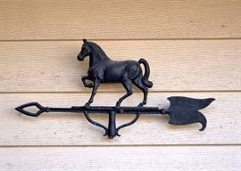 SOLD--LOT #200, Antique Cast Iron Horse Weather Vane (Top Only), $200