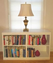 Lots of Books and 2 Matching White Bookshelves