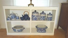 Lots of Blue & White Decorative Items
