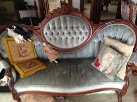 Rosewood Victorian love seat