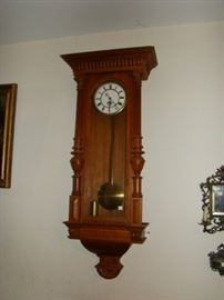 Oak wall clock
