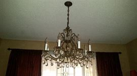 Custom made chandelier. $200 BRING TOOLS, you remove.