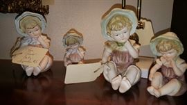 """Two pair porcelain """"piano babies"""""""