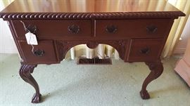 Mahogany 4 drawer writing desk - excellent condition