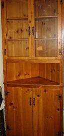 Very Cool Country Pine Corner Cabinet