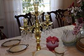 Heisey candelabra
