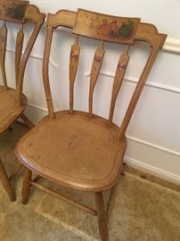 Vintage painted chairs