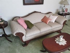 Victorian style parlor sofa