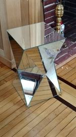 Glass end table accent stand