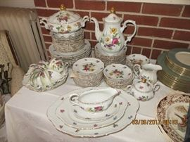 Service for twelve including Large platters, covered soups, Tea pot, dinner plates and much more