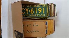 Michigan license plates 1959- 1980's