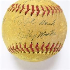 1961 Yankees World Series signed baseball