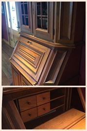 Beautiful German-made, oak secretary