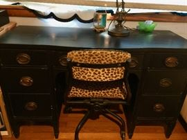 This desk and chair will not be at the sale. Please inquire at check out if interested.