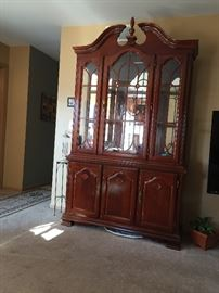 Cherry wood dining room set Table with six chairs and China cabinet very good condition $700 for the set *BUY IT NOW PAYPALL*