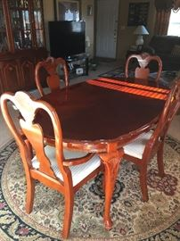 Cherrywood table that matches the dining room set same as previous picture