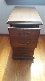 Indiana Desk Company Wood File Cabinet