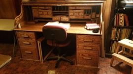 Wood Revival Desk Company, 1996 Rolltop Desk (separates into 3 pieces, makes it easy to move)