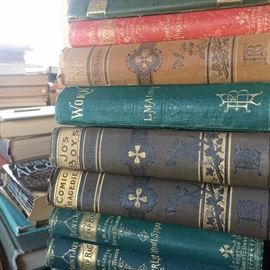 Massive collection of rare and early editions of the works of Louisa May Alcott!