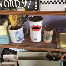 1978 pop art / novelty letter licker, souvenir can of San Francisco fog!
