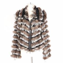 4ea63611e70 Giorgio Armani Fox Fur and Silk Jacket: A Giorgio Armani fox fur and silk  jacket