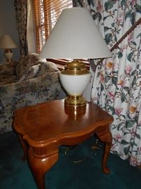 Second End Table and Lamp