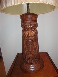 Ceramic lamp made by Jean Haskin.