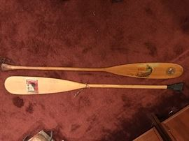 Vintage Canoe Paddles.  Several Others