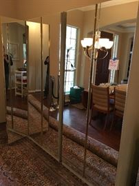 3 mirrored cabinets with adjustable shelves ($350 each)