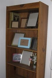 Bookcase and picture frames