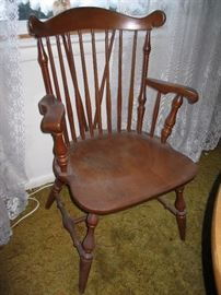 Temple Stuart Windsor Style Chairs:  2 Captain's Chairs and 2 Dining Chairs