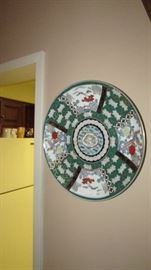 Oversized painted Chinese plate