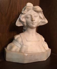Italian Marble Bookshelf Bust / Statue