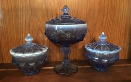 Fenton Twilight Blue Glass