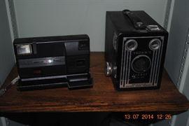 Several old cameras