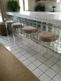 Lucite bar stools $300.00 each