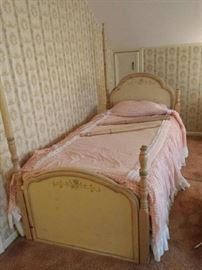 Children's bedroom set canopy trendle bed floor standing mirror 2 dressers and hutch (see picture 13 and 22) $1200.00