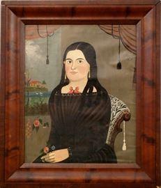 Prior Hamblin School portrait in the Original Mahogany frame